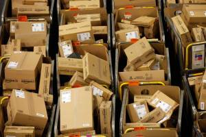 Operations Inside Amazon.com Inc.'s Fulfillment Center As U.K. Online Sales Due to Peak